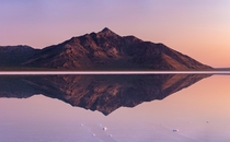 Flooded Bonneville Salt Flats at Sunrise