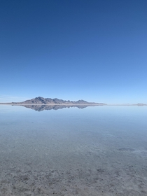 Flooded Bonneville salt flats in Utah