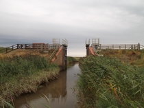 floodgates at Cley-Next-The-Sea Norfolk UK