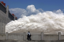 Floodwater released from the Three Gorges Dam