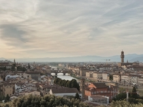 Florence at sun set from the top of Piazzale Michelangelo
