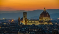 Florence at sunset Italy