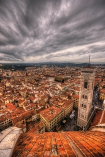 Florence from the dome of Santa maria del fiore cathedral