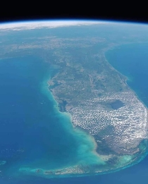 Florida from space by astronaut Nick Hague on the ISS