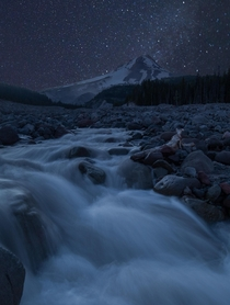 Flow of Silence White River Mt Hood OR