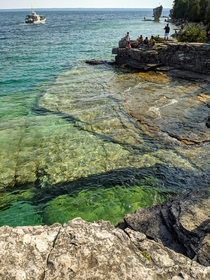 Flower Pot Island in Lake Huron Ontario