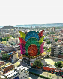 Flower-shaped building in Jaipur India