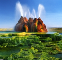 Fly Geyser in Nevada
