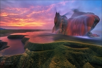 Fly Geyser Nevada USA Photographer Yiming Hu