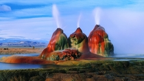 Fly Geyser NevadaUSA