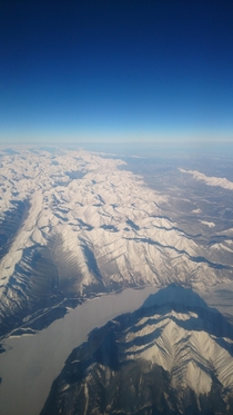 Flying home from work North Shore Mountain Range British Columbia