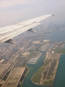 Flying into Chicago from the east