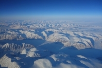 Flying over Greenland at  feet