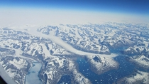 Flying over Greenland  x-post from Pics