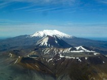 Flying over New Zealand Mt Doom