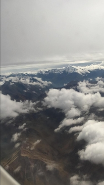 Flying over the Andes in Peru today couldnt stop looking out the window