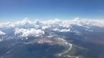 Flying over the Continental Divide in Colorado