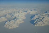 Flying over the ice of Greenland