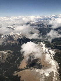 Flying over the stunning Rocky Mountains on my flight from Seattle to Calgary they truly did all the work for me Reposted with proper resolution