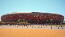 FNB Stadium also known as The Calabash due to its shape as an African pot Johannesburg South Africa