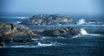 Fog And Waves At Verdens Ende close to Tjme city Norway by Lillian Molstad Andresen