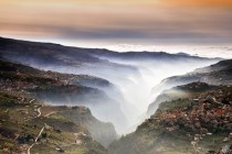 Fog in the valley Bcharre Lebanon