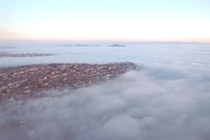 Fog over Istanbul winter is coming