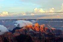 Fog Rising from the North Rim Grand Canyon National Park