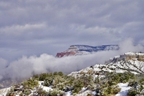 Fog rolling down Escalante Mountain over the Blues - Hwy  UT -