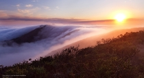 Fog Rolling in Over The Marin Headlands California  photo by Simon Christen