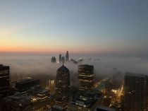 Fog rolling into Chicago this morning
