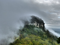 Fog Rolling Over The Knob Of Pilot Mountain NC x