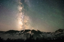 Fog Rolls Through the Indian Peaks Wilderness Under the Milky Way