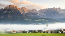 foggy at the village of tyrol Austriax-post rfoggypics