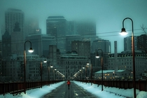 Foggy days in Minneapolis