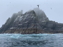Foggy morning at Skellig Michael Ireland