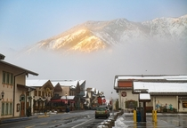 Foggy morning in Leavenworth Washington