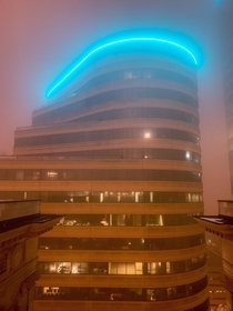 Foggy night after the Polar Vortex Minneapolis MN USA