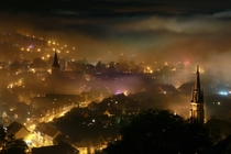 Foggy night at Wernigerode