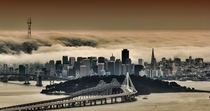 Foggy San Francisco in HDR taken and edited by Alex Burke