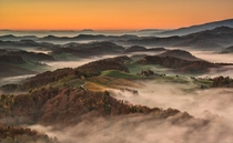 Foggy Valley in Slovenia