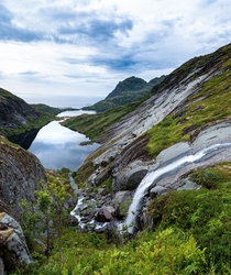 Following the waterfalls of Lofoten Norway