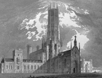 Fonthill Abbey an ill-fated but ambitious example of the early gothic revival This is the tallest of its three towers but like its two predecessors it fell down within a decade