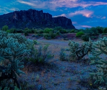 For Social Distancing Shoot at Blue Hour Superstition Mountains Arizona