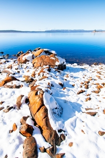 For those wondering it snows in Australia This was taken  days ago at Great Lake TAS x OC
