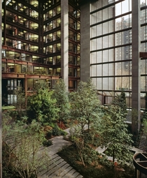 Ford Foundation headquarters atrium in NYC  by Kevin Roche