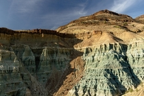 Foree Badlands at John Day Fossil Beds National Monument Oregon OC