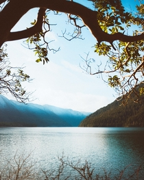 Forever grateful for our National Parks Lake Crescent Olympic NP WA