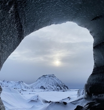 Forever lurker but couldnt help posting this picture from the Katla Ice Cave in Mrdalshreppur Iceland