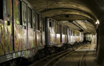 Forgotten beneath Paris - abandoned subway cars